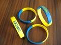 硅胶印刷手腕带,丝印手腕带,丝