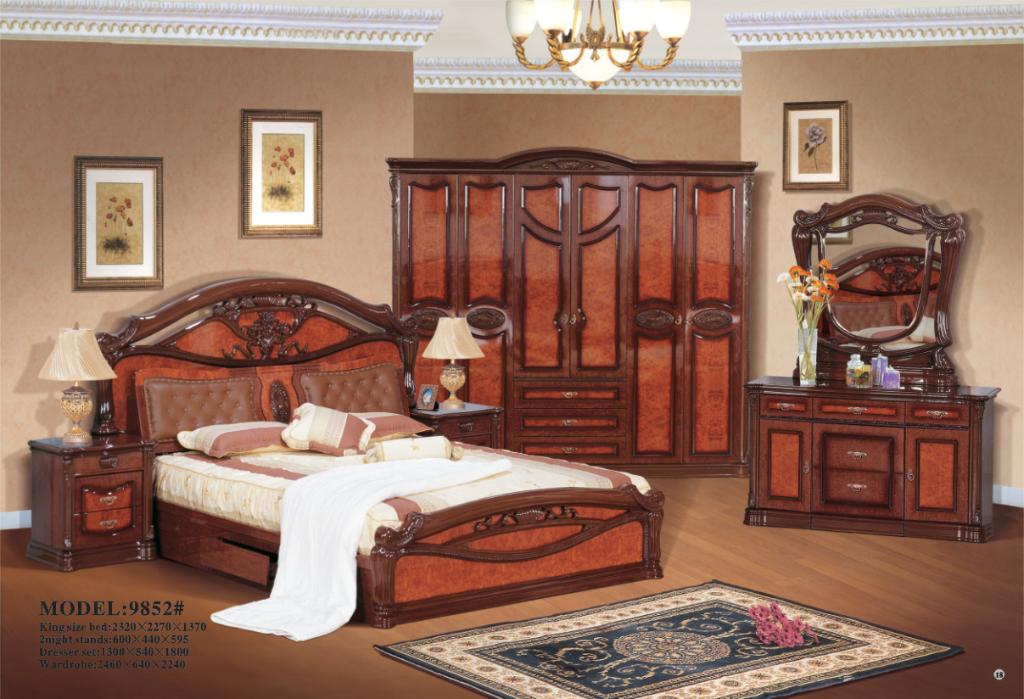 Classic Bedroom Set KM 9852 China Bedroom Furniture
