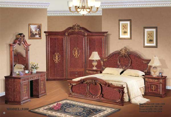 Classic bedroom set km 310 china bedroom furniture for Classic furniture products vadodara