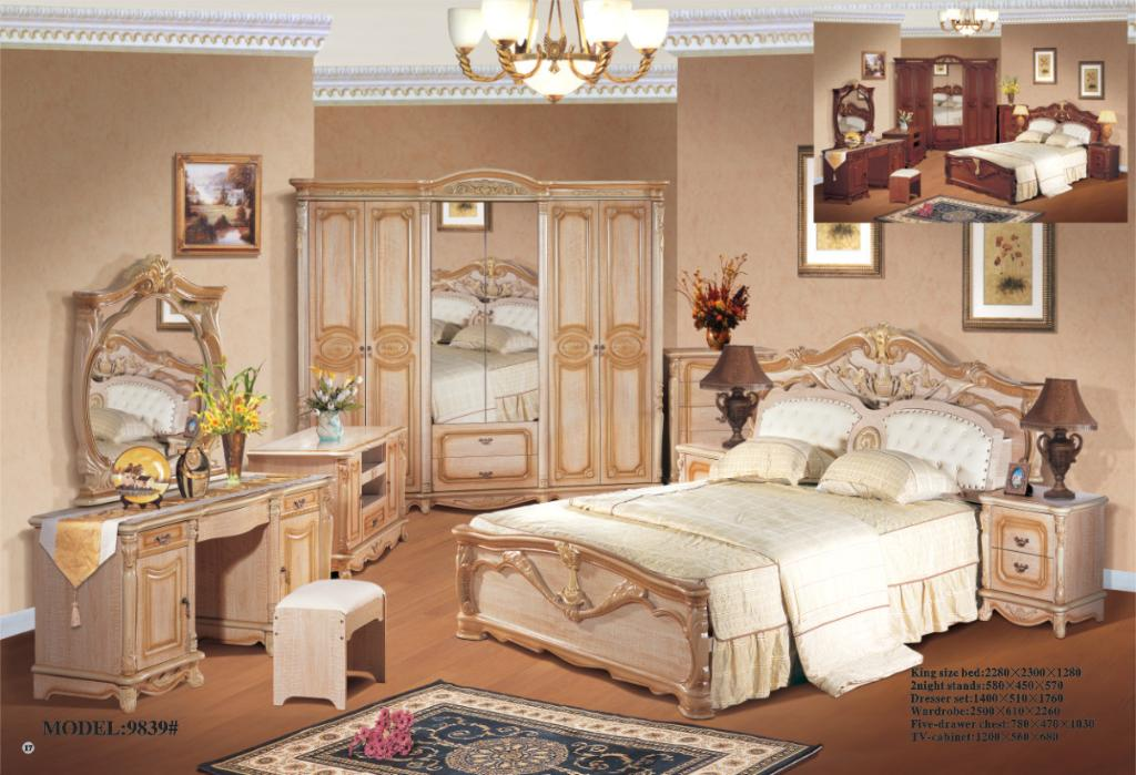 Classic bedroom set KM 9839 China Bedroom Furniture