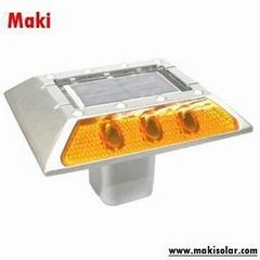 Solar-Powered LED Road Stud