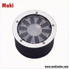 Solar-Powered LED Ground Light