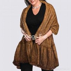 Mink fur shawl