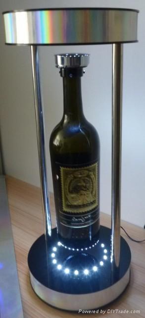 electro magnetic levitation and rotation wine base with LED 1