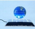 electro magnetic levitation and rotation wine base with LED 2
