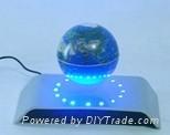 electro magnetic levitation and rotation wine base with LED 3
