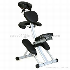 deluxe metal portable massage chair