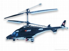 4-CH OX-Woff Super model R/C Helicopter
