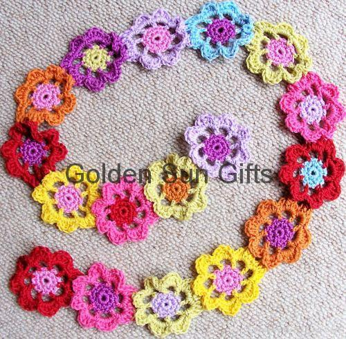 Flower scarf - Learn how to crochet