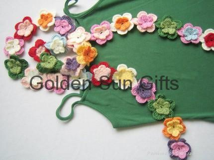 crochet flower scarf brooch on Etsy, a global handmade and vintage