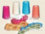 Dyed folded viscose rayo