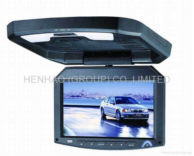 7inch Flip down TFT LCD  Roof Mount monitor TV SD USB  MP5 1