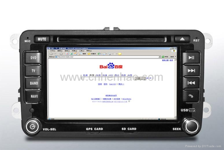 7inch In dash Car dvd gps navigation TFT LCD 3G wifi touchscreen car pc for VW 1