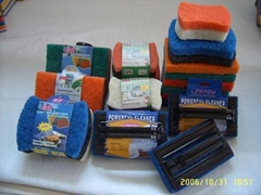 scouring pad,kitchen sponge,sponge scourer,cellulose sponge,car sponge
