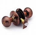 Cylindrical stainless steel (brass) whole knob locks 4
