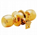 Cylindrical stainless steel (brass) whole knob locks 5