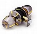 Cylindrical zinc alloy knob locks 3