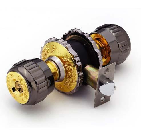 Cylindrical zinc alloy knob locks 4