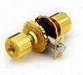Cylindrical zinc alloy knob locks 5