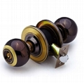 Cylindrical iron knob locks