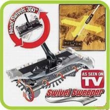 Swivel Sweeper /Electric Sweeper/As seen on tv