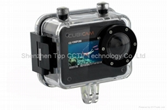2012 New 1080P waterproof mini size digital Sports Camera Cubicam