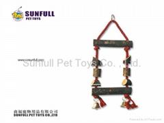 Wooden bird ladder