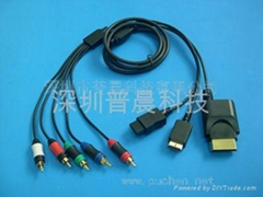 3 in 1 Component Cable for PS3/Wii/XBOX360