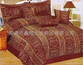 100% jacquard polyester comforter set