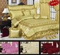 100% polyester satin bedspread set 1