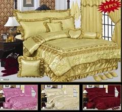 100% polyester satin bedspread set