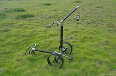carbon remote golf trolley with tubular li-battery