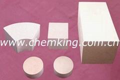 ceramic honeycomb, catalyst, ceramic slice, ceramic plate