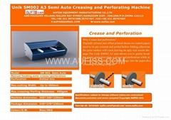semi auto creasing and perforating machine SM002