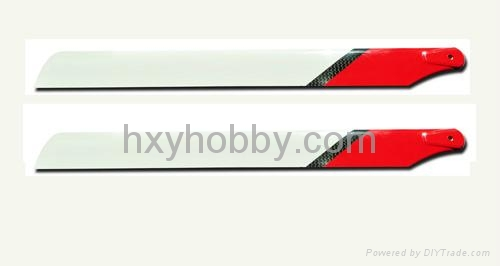 325mm carbon fiber blades for T-rex 450 helicopter 1