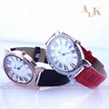 NEW Beautiful Fashion Classic Leather Strap Roma Number Dial Quartz Woman Watch