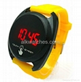 LED touch sports watch, silicone led watch