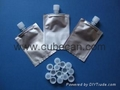 soft foil plastic pouch with screw cap