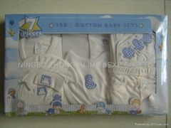 infant garment 7 pcs gift set