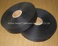 black polyester taffeta label fabric