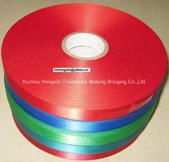 100% polyester single face woven edge satin ribbon