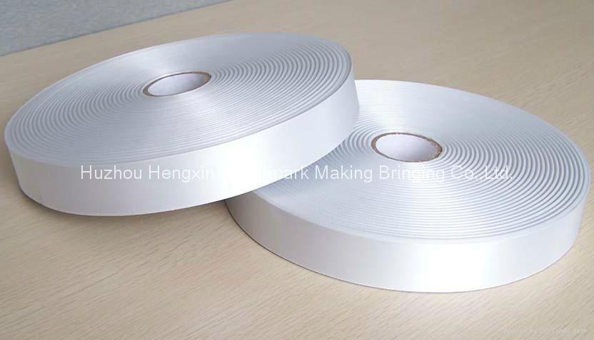 100% polyester single face woven edge textile printing ribbon 2