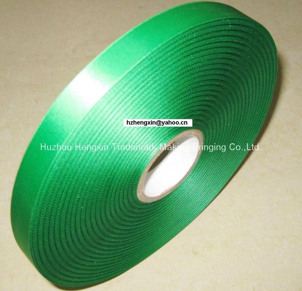 100% polyester single face woven edge textile printing ribbon 1