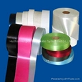 polyester satin fabric label