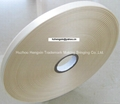 100% polyester ivory color woven edge