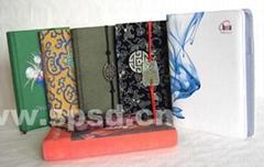 Leather notebook fine notepad agenda journal diary organizer document holder