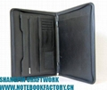 Leather briefcase portfolio file folder document holder writing paper keeper 2