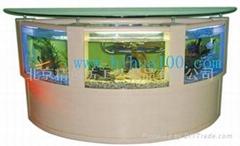 生太壁画、生态鱼缸、壁挂式鱼缸