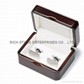 wooden cufflink box,wooden jewelry box,wooden earring box