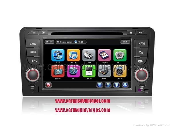 High Quality Car DVD Player, AUDI A3 car DVD player with GPS navigation 1